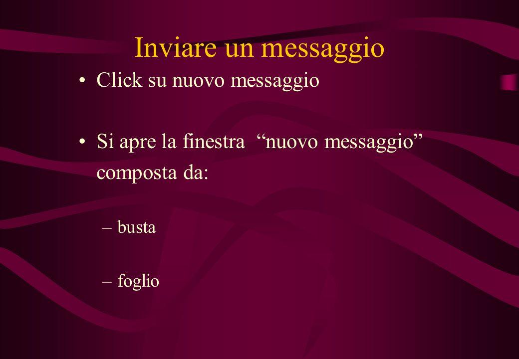 Inviare un messaggio Click su nuovo messaggio