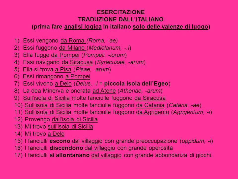 TRADUZIONE DALL'ITALIANO
