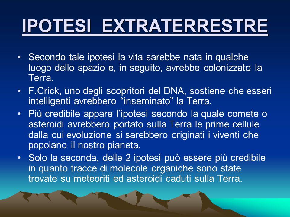 IPOTESI EXTRATERRESTRE