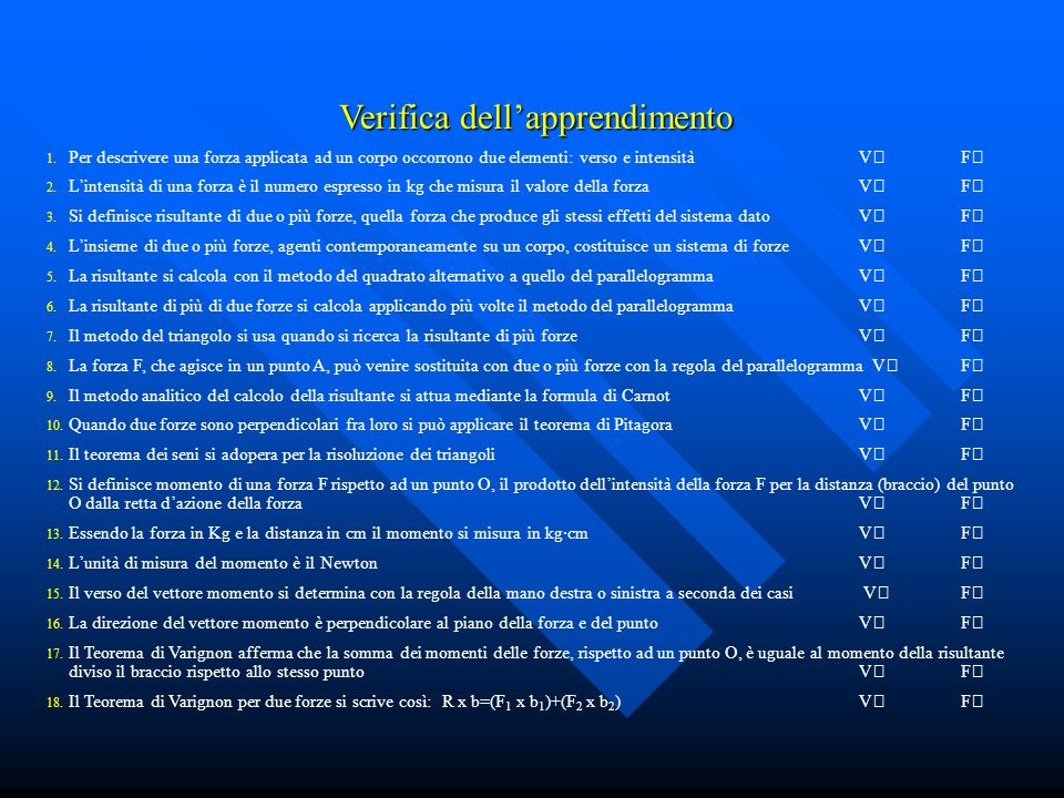 Verifica dell'apprendimento