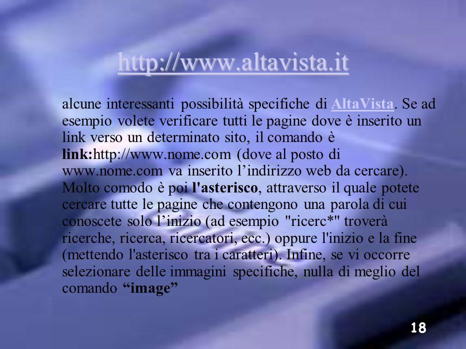 http://www.altavista.it