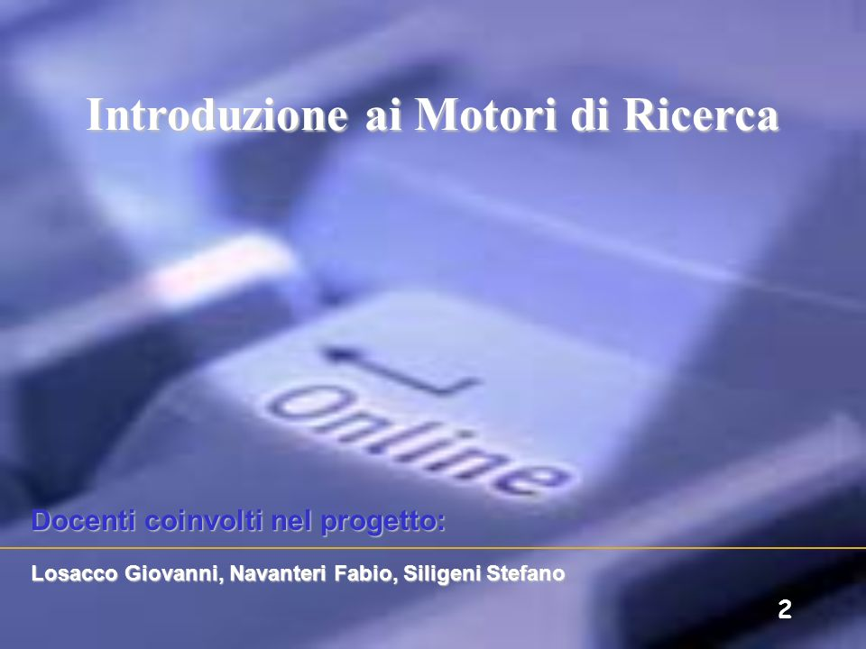 Introduzione ai Motori di Ricerca