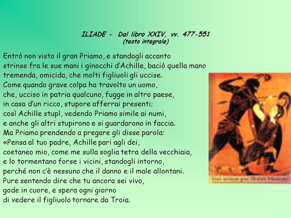 ILIADE - Dal libro XXIV, vv. 477-551 (testo integrale)