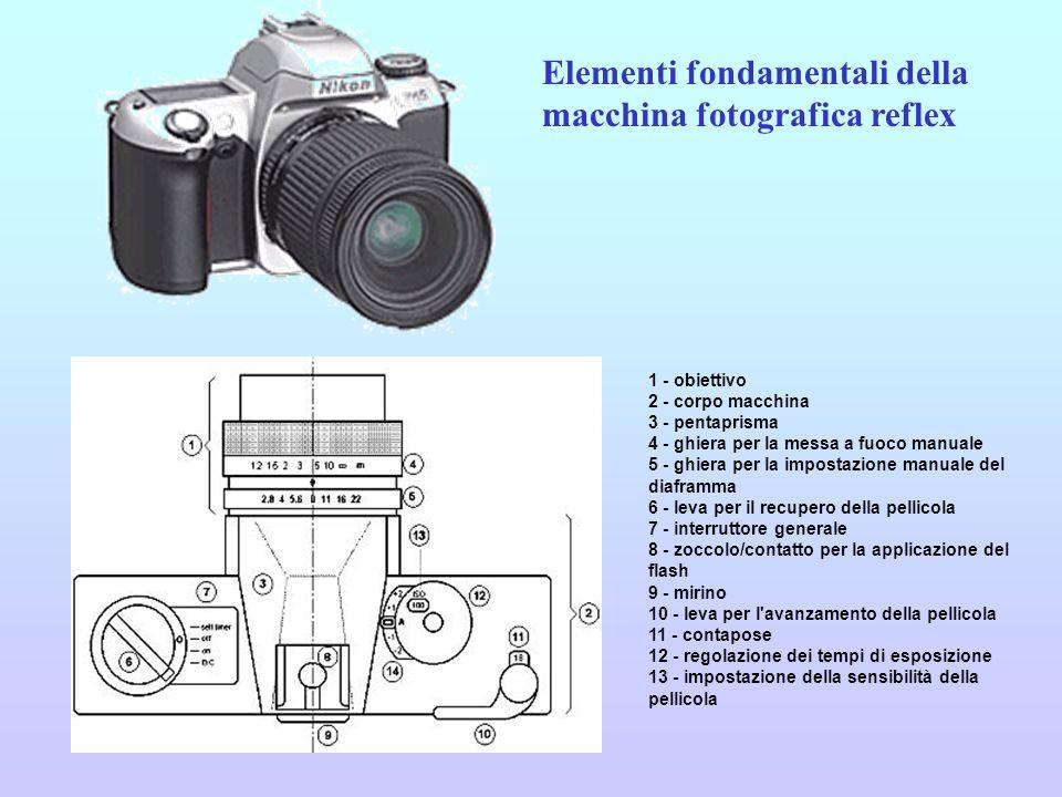 Elementi fondamentali della macchina fotografica reflex
