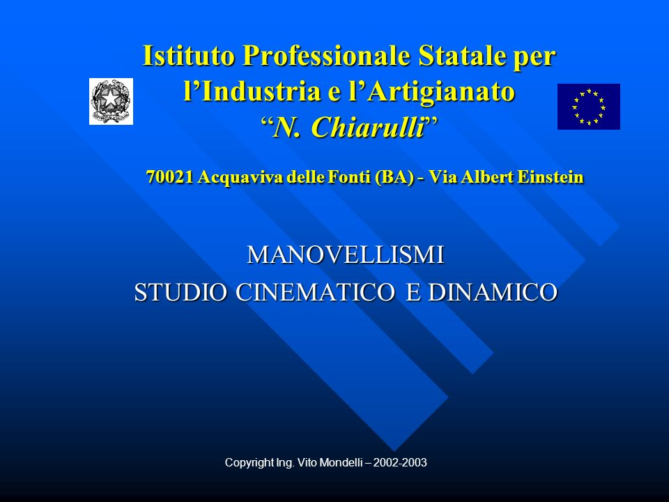 MANOVELLISMI STUDIO CINEMATICO E DINAMICO