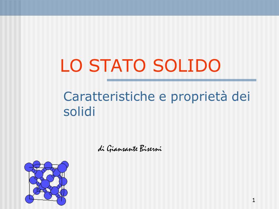 Caratteristiche e proprietà dei solidi