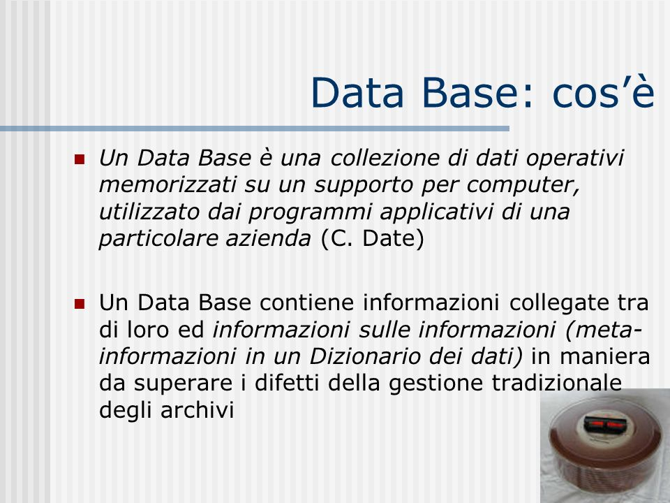 Data Base: cos'è