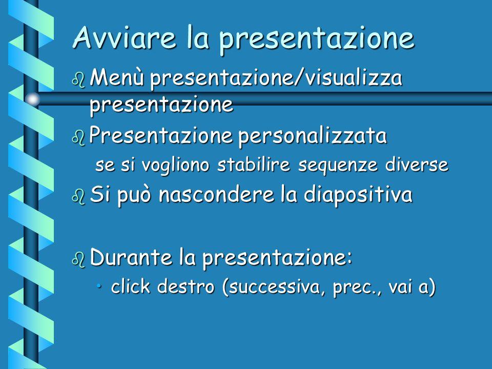 Avviare la presentazione