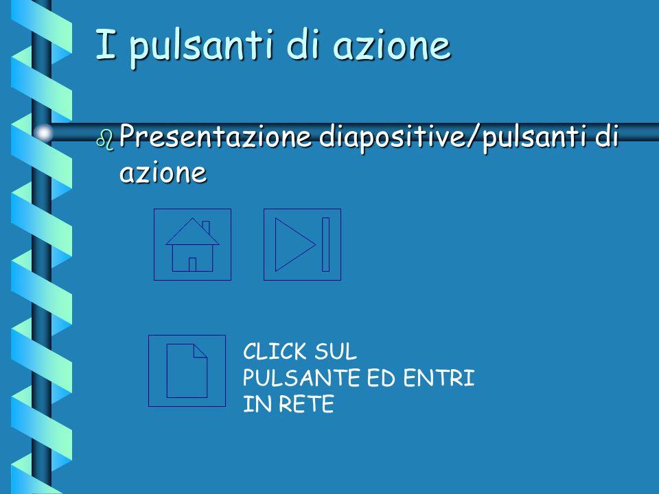 I pulsanti di azione Presentazione diapositive/pulsanti di azione