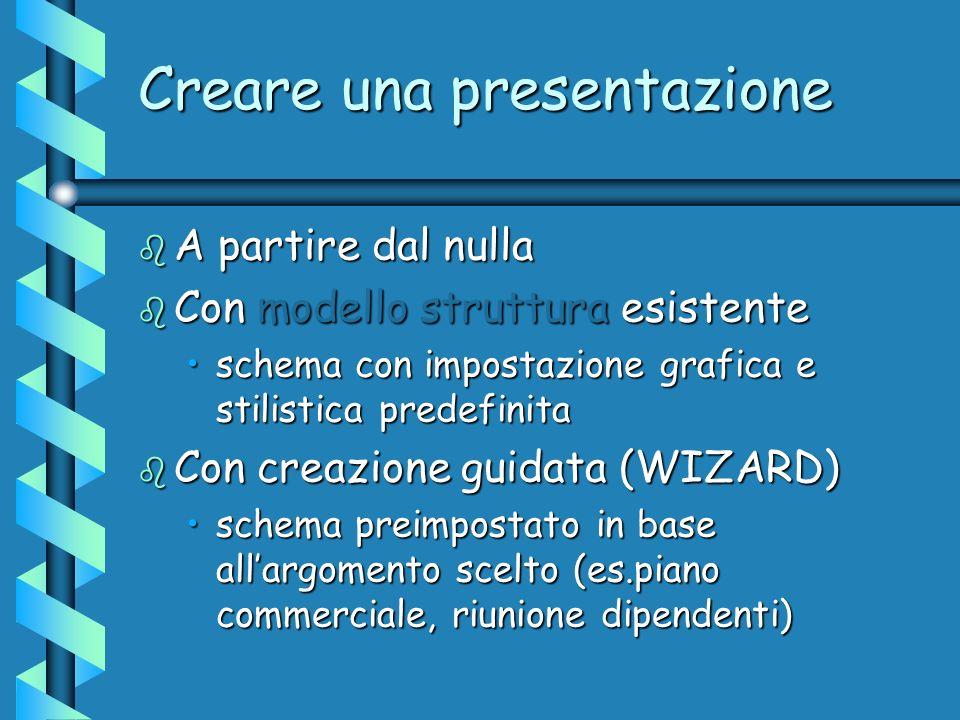 Creare una presentazione