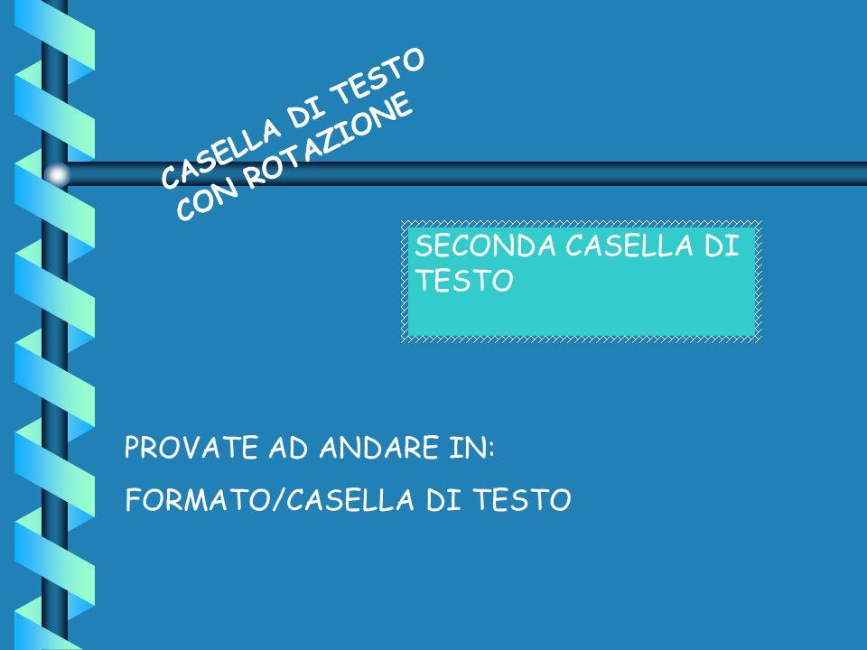 CASELLA DI TESTO CON ROTAZIONE