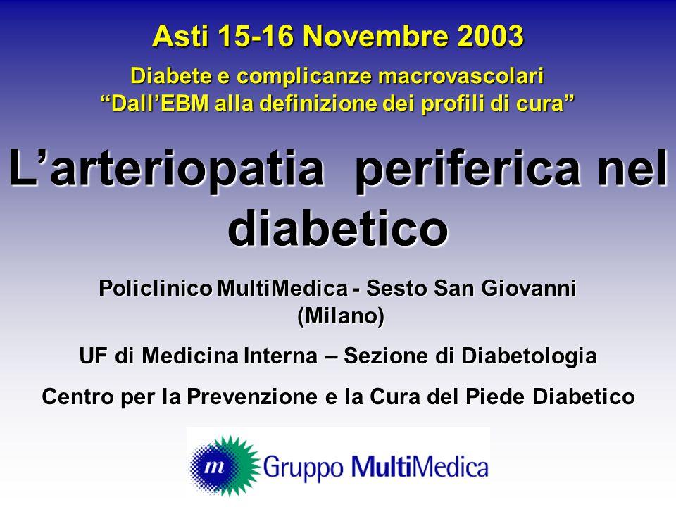 L'arteriopatia periferica nel diabetico