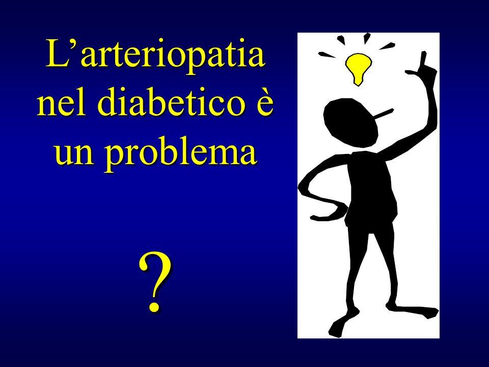 L'arteriopatia nel diabetico è un problema
