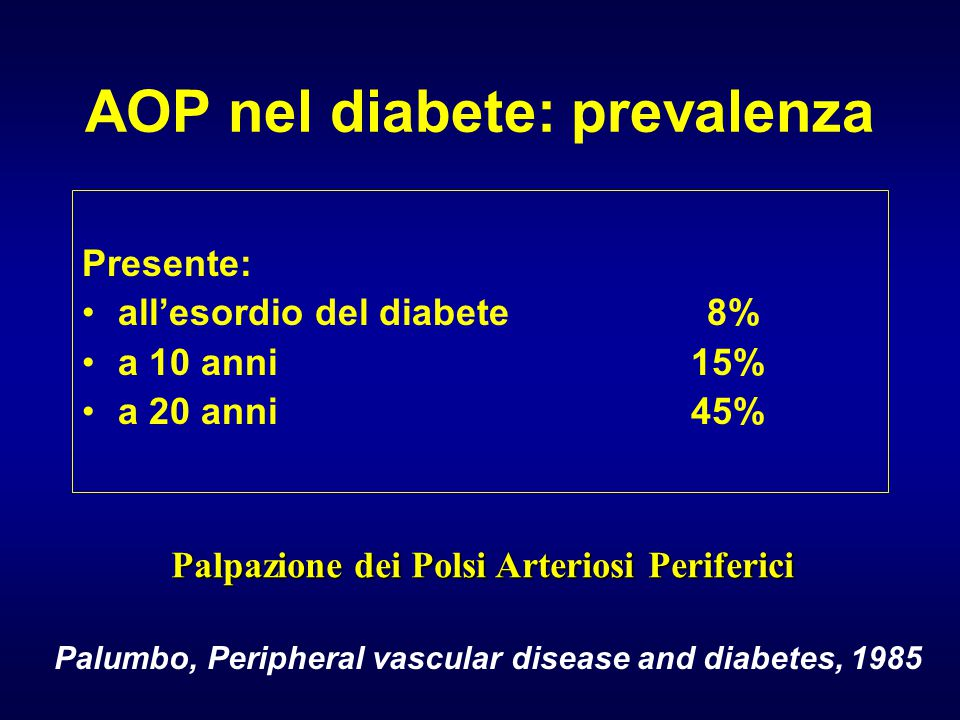AOP nel diabete: prevalenza
