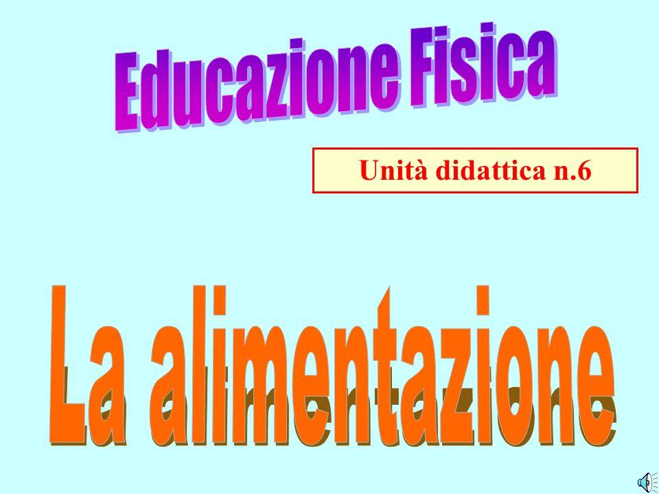 Educazione Fisica Unità didattica n.6 La alimentazione