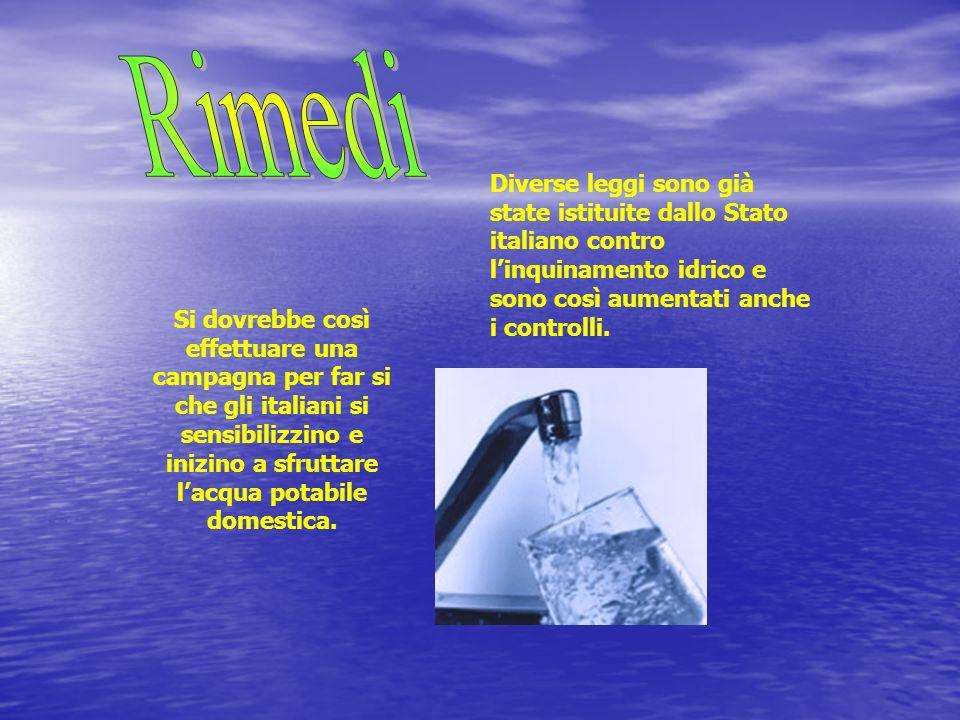 Rimedi Diverse leggi sono già state istituite dallo Stato italiano contro l'inquinamento idrico e sono così aumentati anche i controlli.
