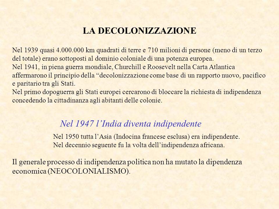 Nel 1947 l'India diventa indipendente