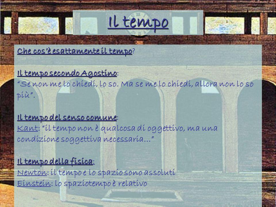Il tempo Che cos'è esattamente il tempo Il tempo secondo Agostino: