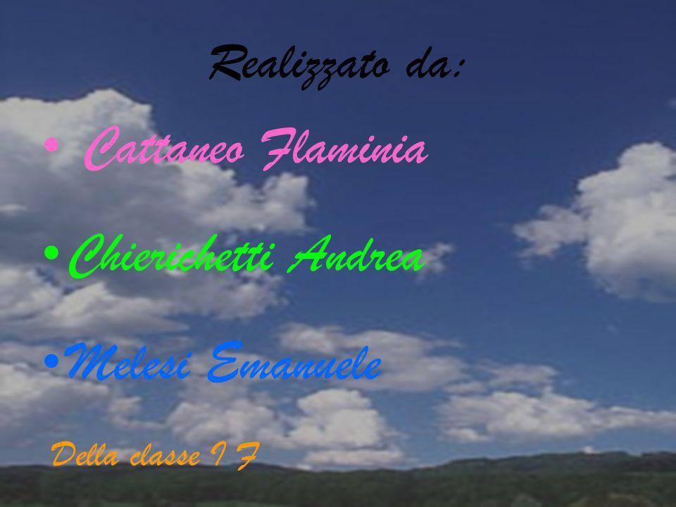 Cattaneo Flaminia Chierichetti Andrea Melesi Emanuele Realizzato da:
