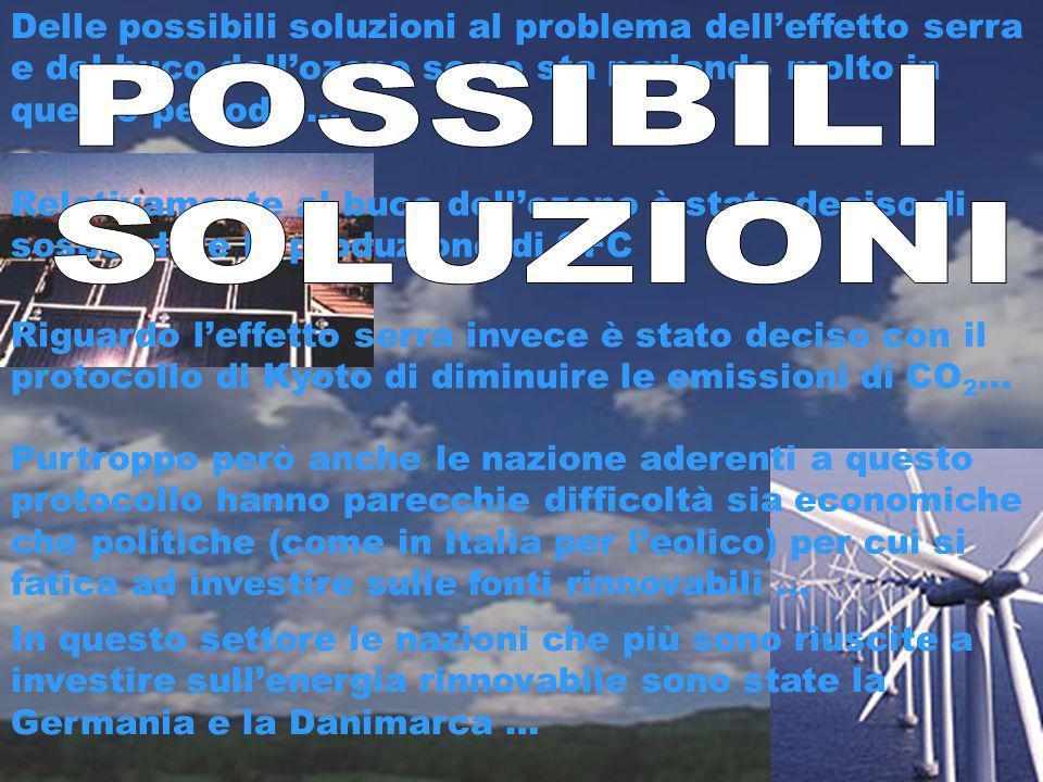 Delle possibili soluzioni al problema dell'effetto serra e del buco dell'ozono se ne sta parlando molto in questo periodo …