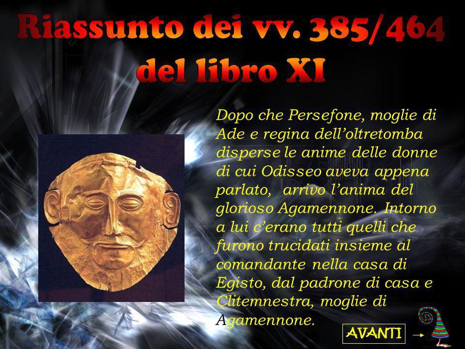 Riassunto dei vv. 385/464 del libro XI