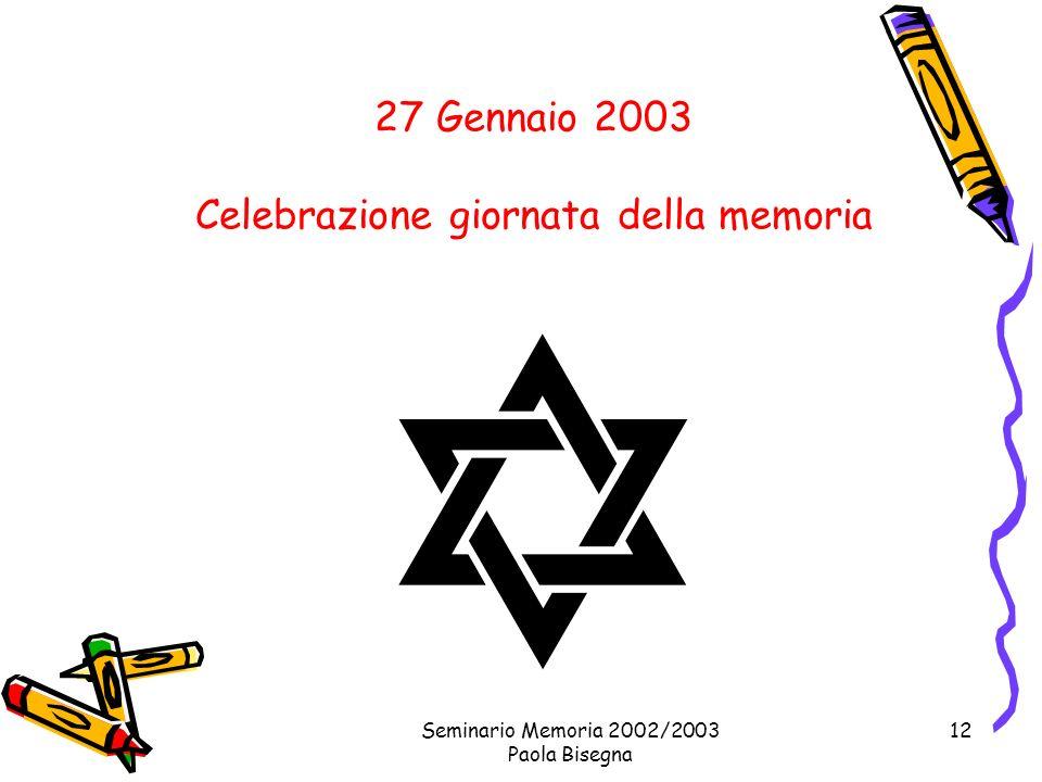 Celebrazione giornata della memoria