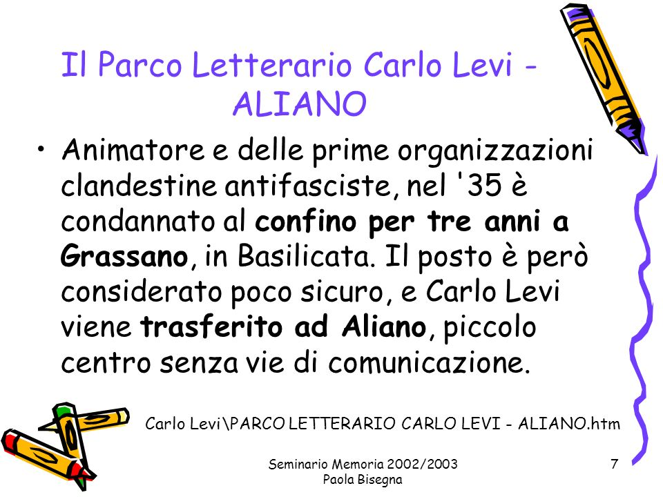 Il Parco Letterario Carlo Levi - ALIANO