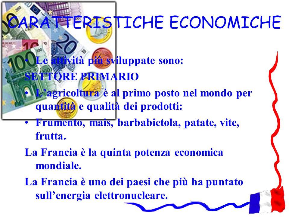 CARATTERISTICHE ECONOMICHE