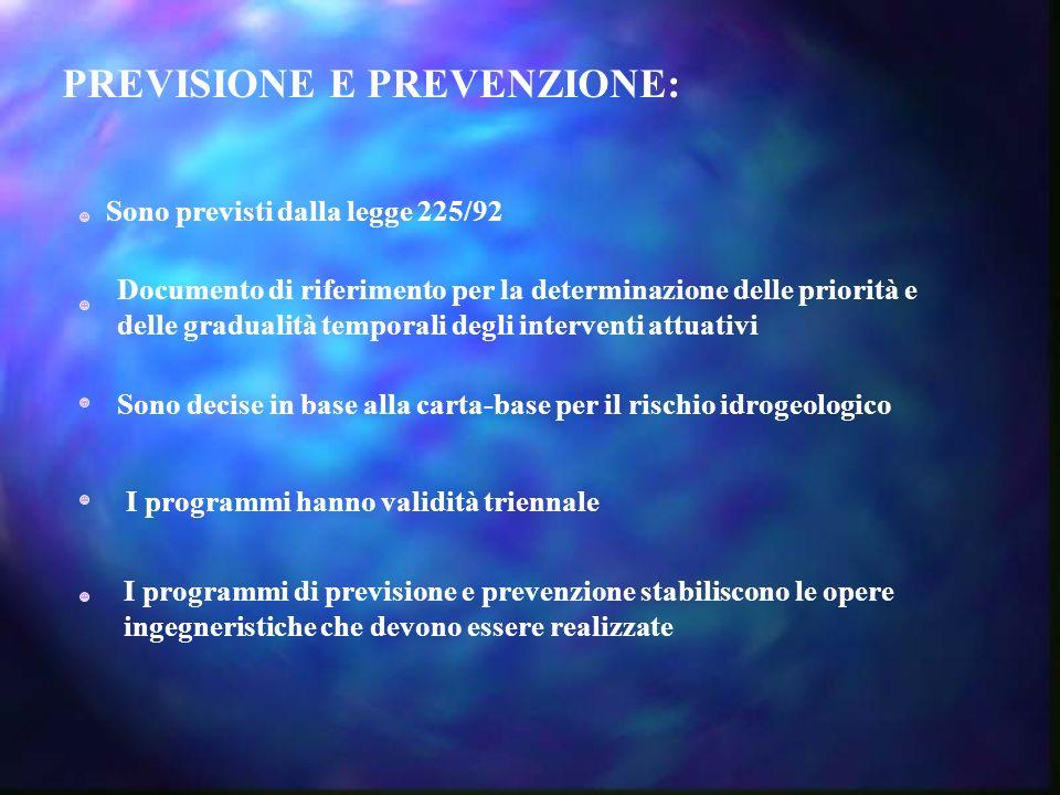 PREVISIONE E PREVENZIONE:
