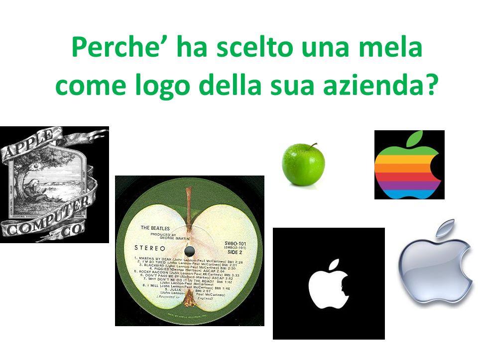 Perche' ha scelto una mela come logo della sua azienda