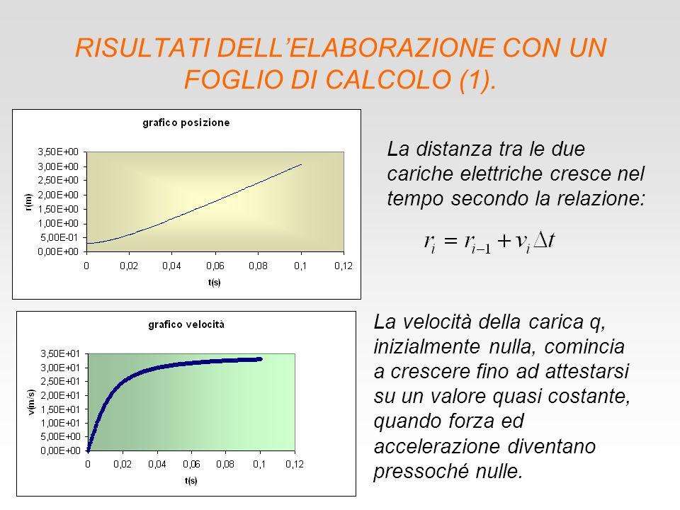 RISULTATI DELL'ELABORAZIONE CON UN FOGLIO DI CALCOLO (1).