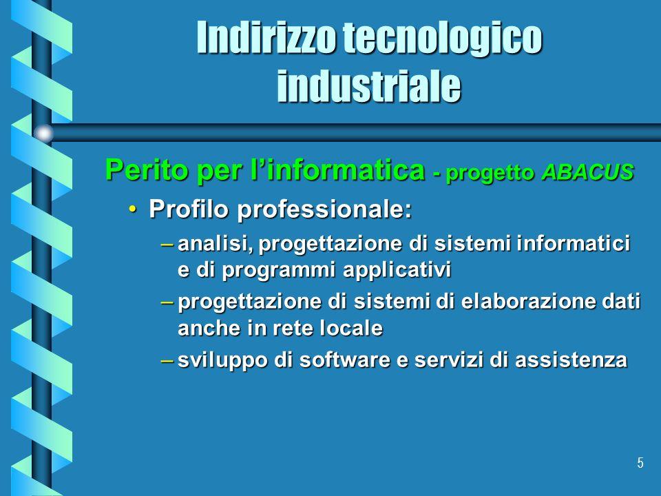 Indirizzo tecnologico industriale