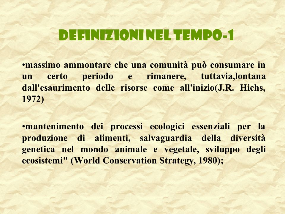 DEFINIZIONI NEL TEMPO-1
