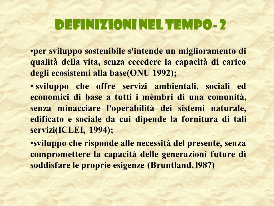 DEFINIZIONI NEL TEMPO- 2