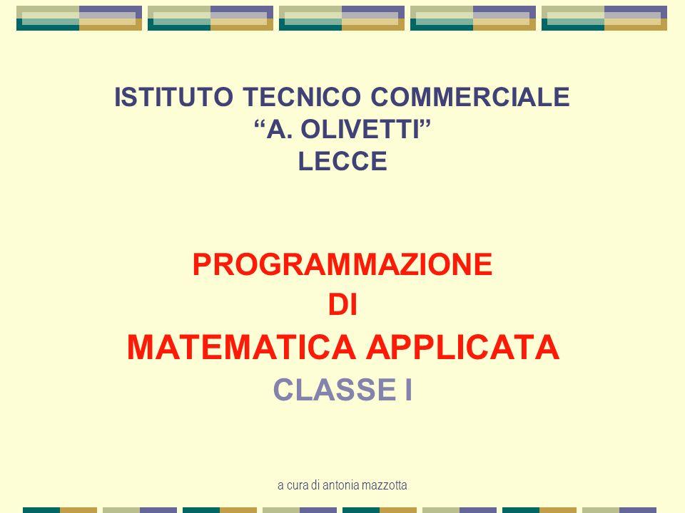 ISTITUTO TECNICO COMMERCIALE A. OLIVETTI LECCE