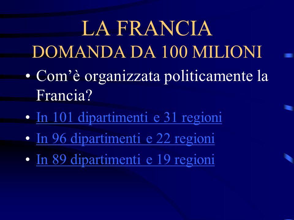 LA FRANCIA DOMANDA DA 100 MILIONI