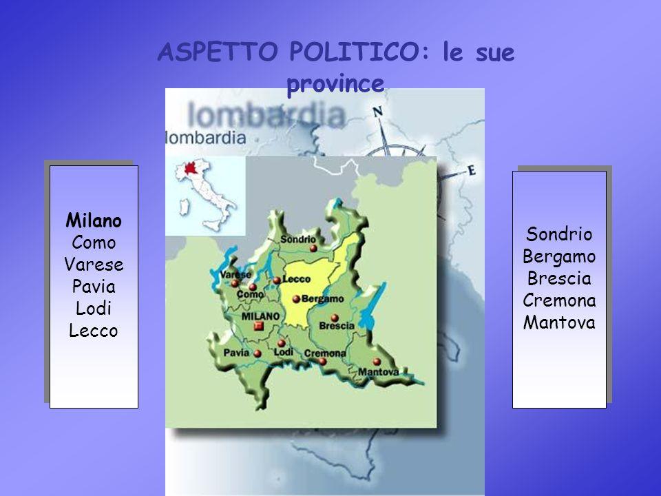 ASPETTO POLITICO: le sue province