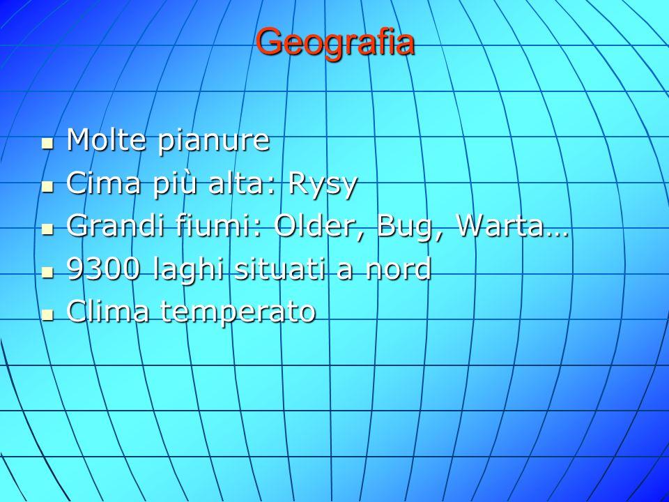 Geografia Molte pianure Cima più alta: Rysy