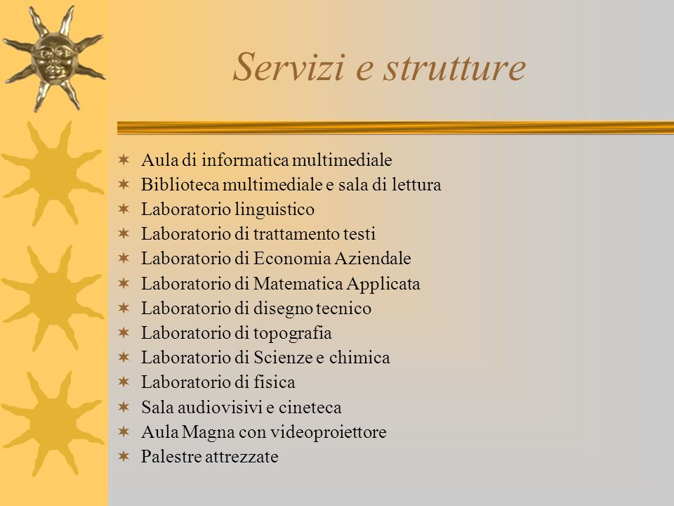 Servizi e strutture Aula di informatica multimediale
