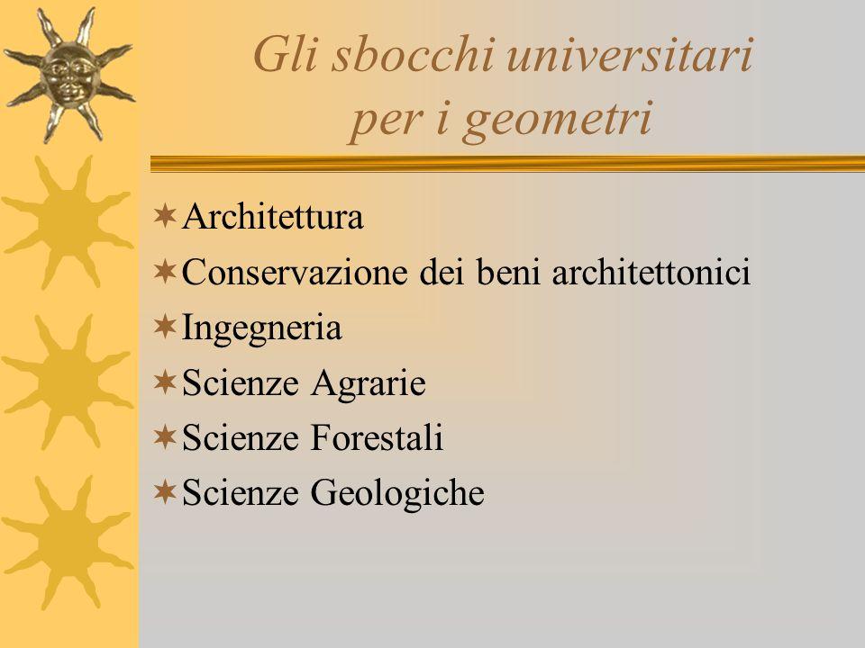 Gli sbocchi universitari per i geometri