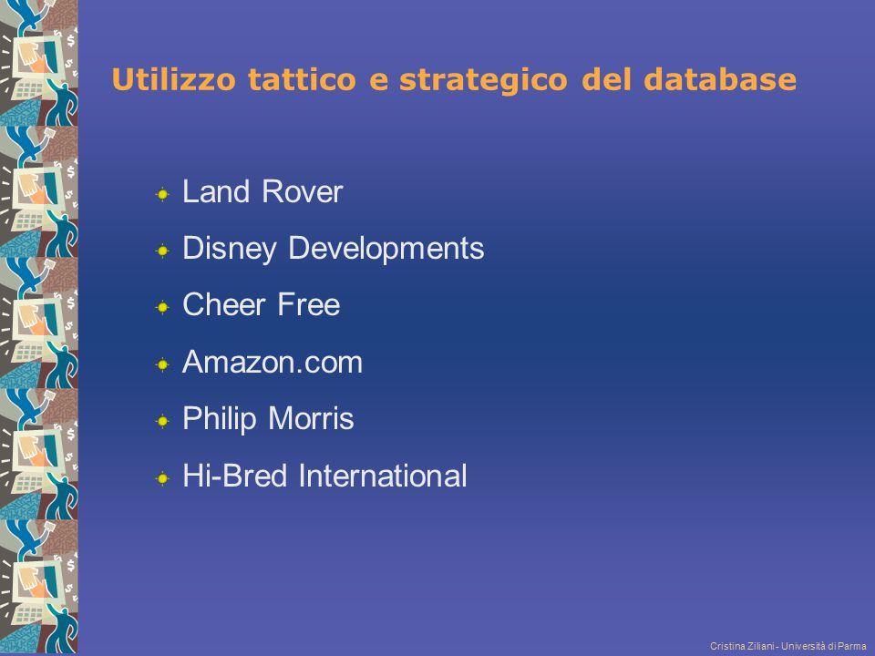 Utilizzo tattico e strategico del database