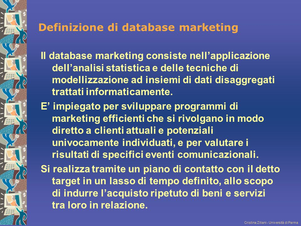 Definizione di database marketing