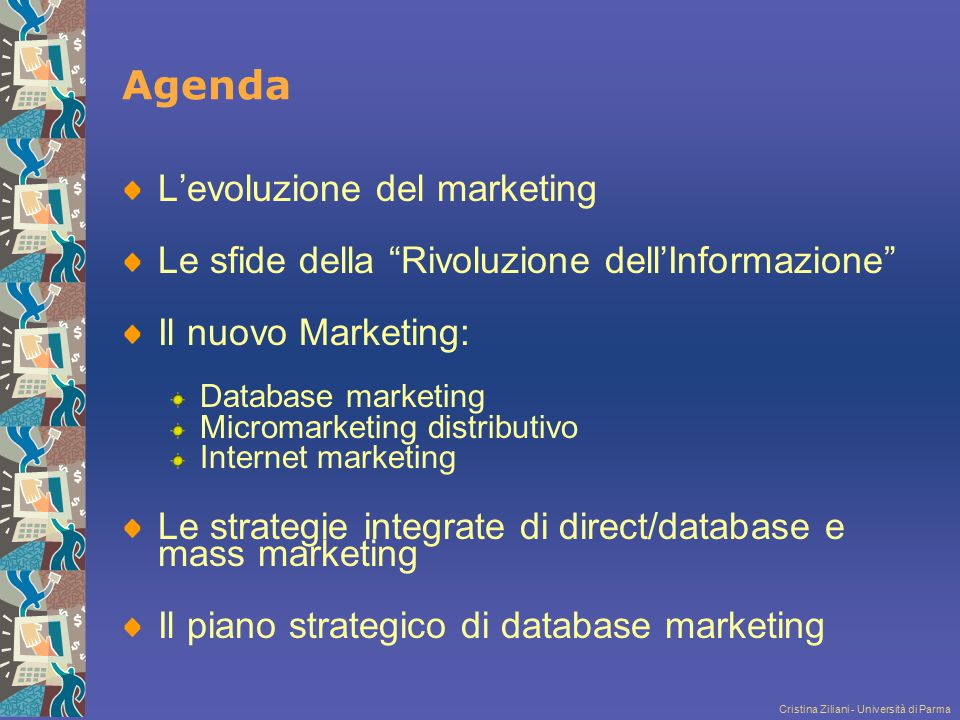 Agenda L'evoluzione del marketing