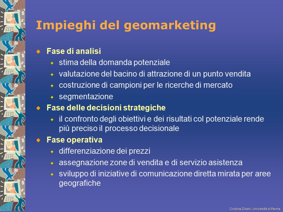 Impieghi del geomarketing