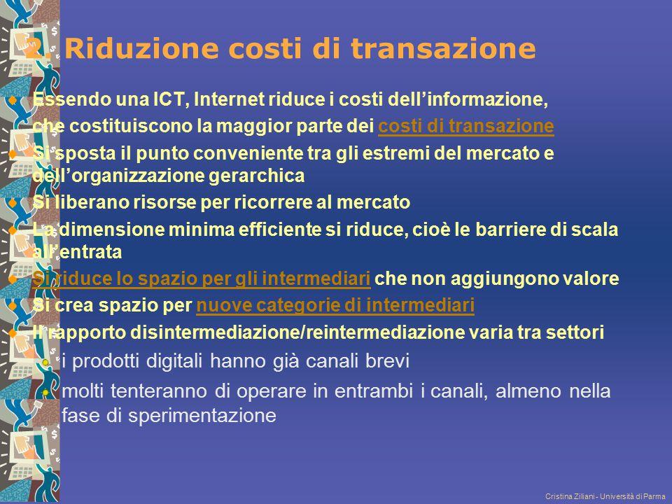 2. Riduzione costi di transazione