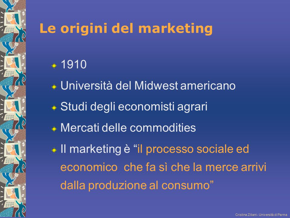 Le origini del marketing