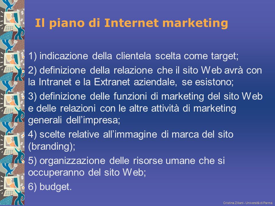 Il piano di Internet marketing