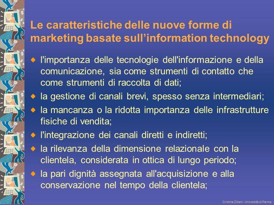 Le caratteristiche delle nuove forme di marketing basate sull'information technology