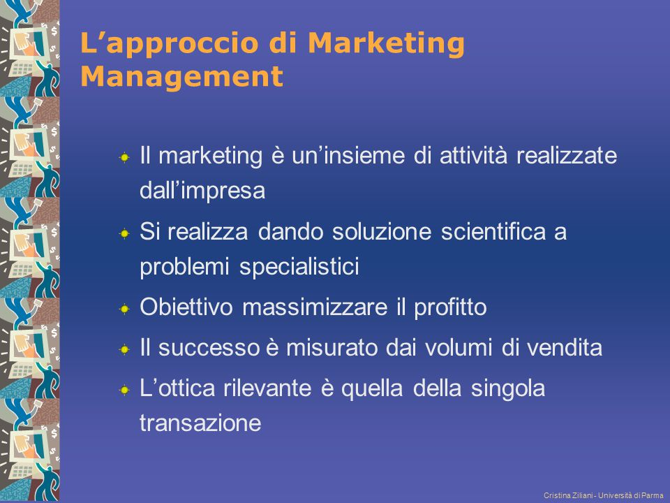 L'approccio di Marketing Management