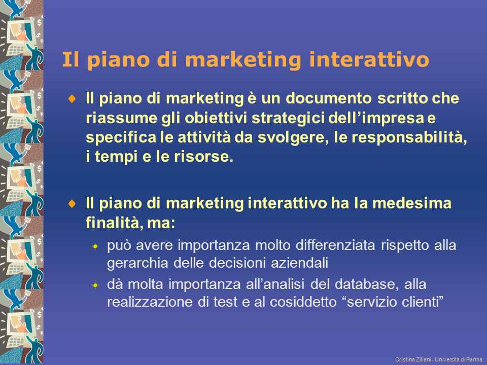 Il piano di marketing interattivo